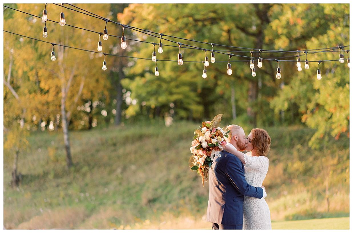 Minnesota Fall wedding at The barn at stoney hills, Cushing Minnesota, Fall elopement, Finley Florence wedding gown, Xsperience Photography, ranch wedding photographer,