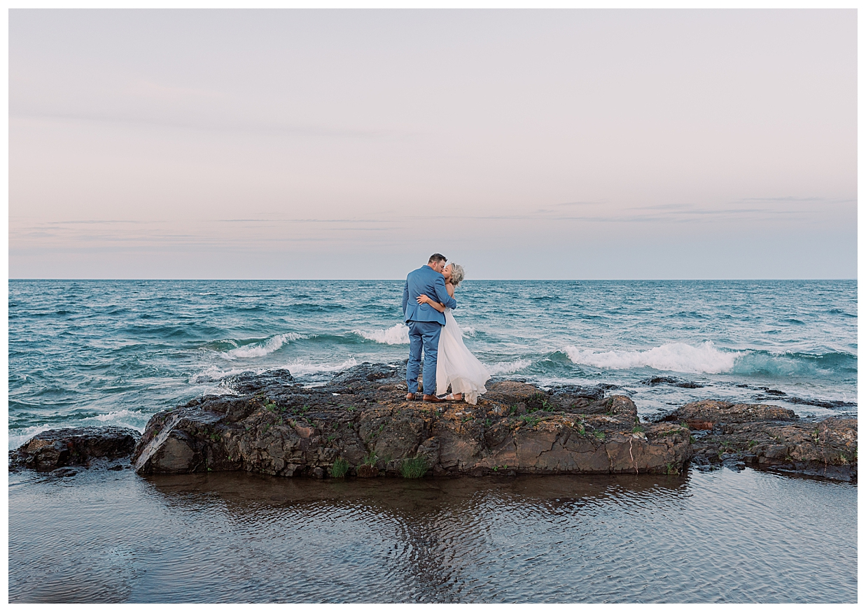 Lake Superior Elopement, Ocean elopement, hawaii elopement, kauai elopement, sunset wedding on the lake, xsperience photography