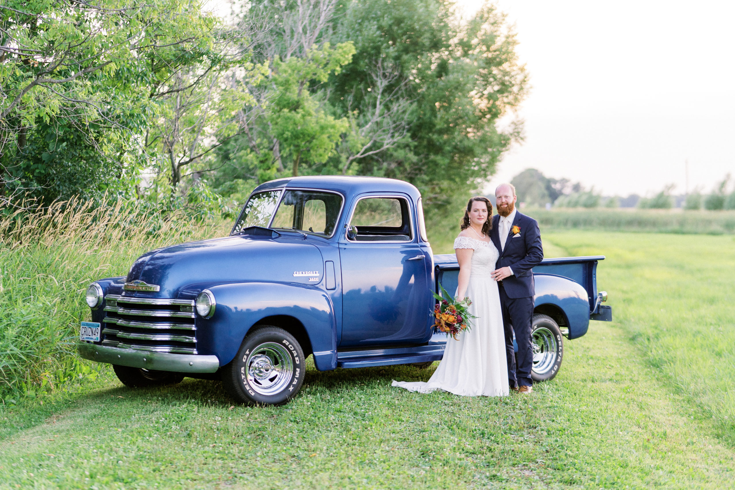 vintage truck at Sable Inn Bed and Breakfast wedding